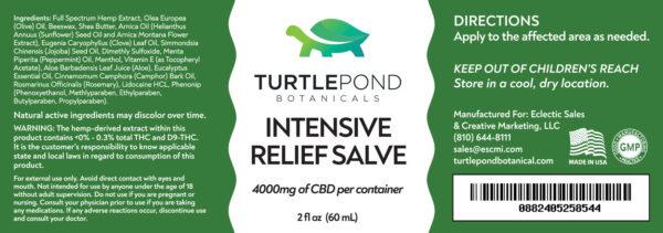 Intensive Relief Salve label